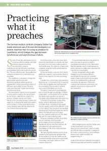 AdPlace writes drive story for STOBER drives and Controls July 2018